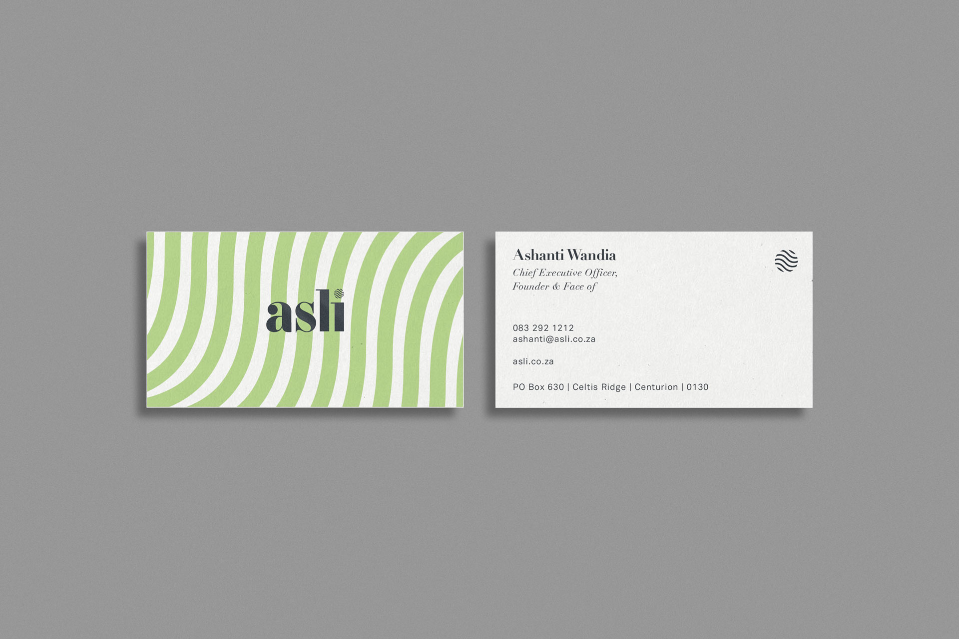 asli Corporate Identity Packaging Design—business cards