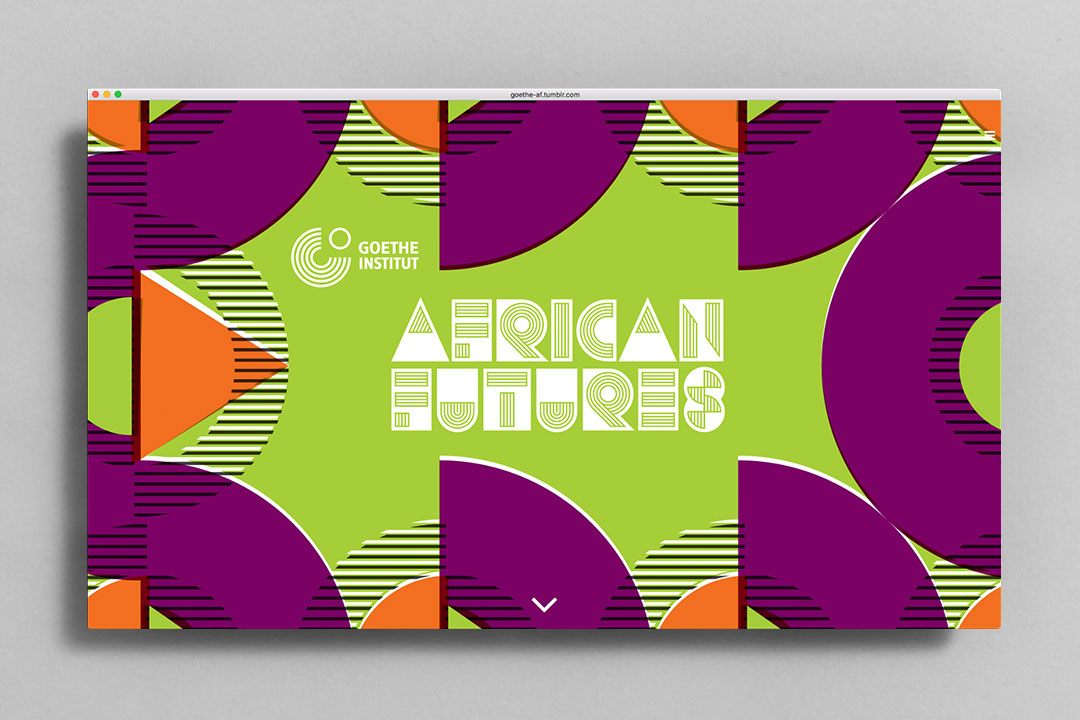 African Futures Festival graphic design micro-site