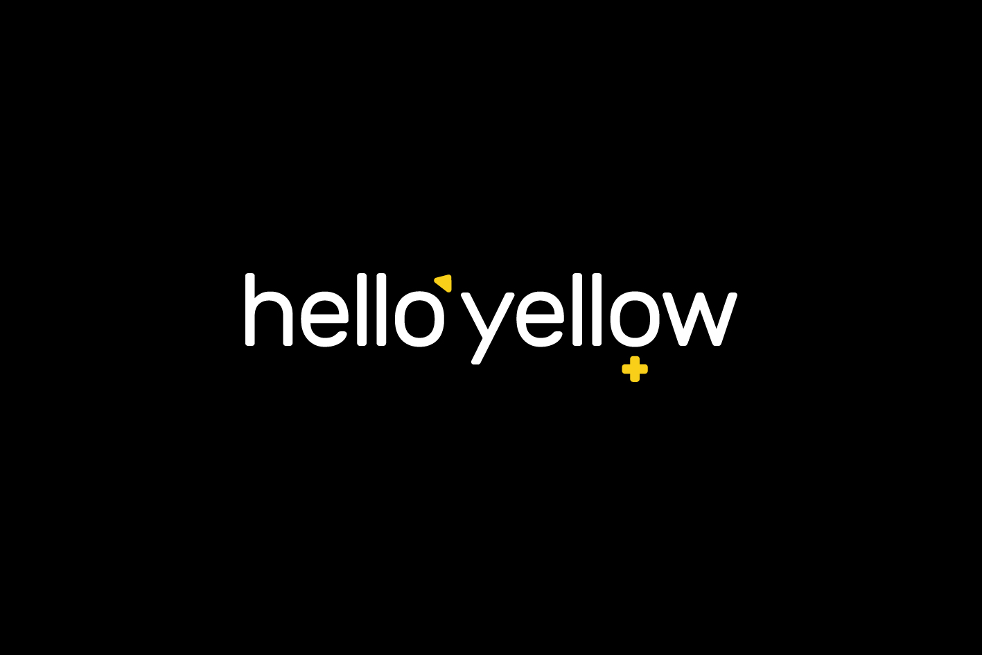 hello yellow identity logo