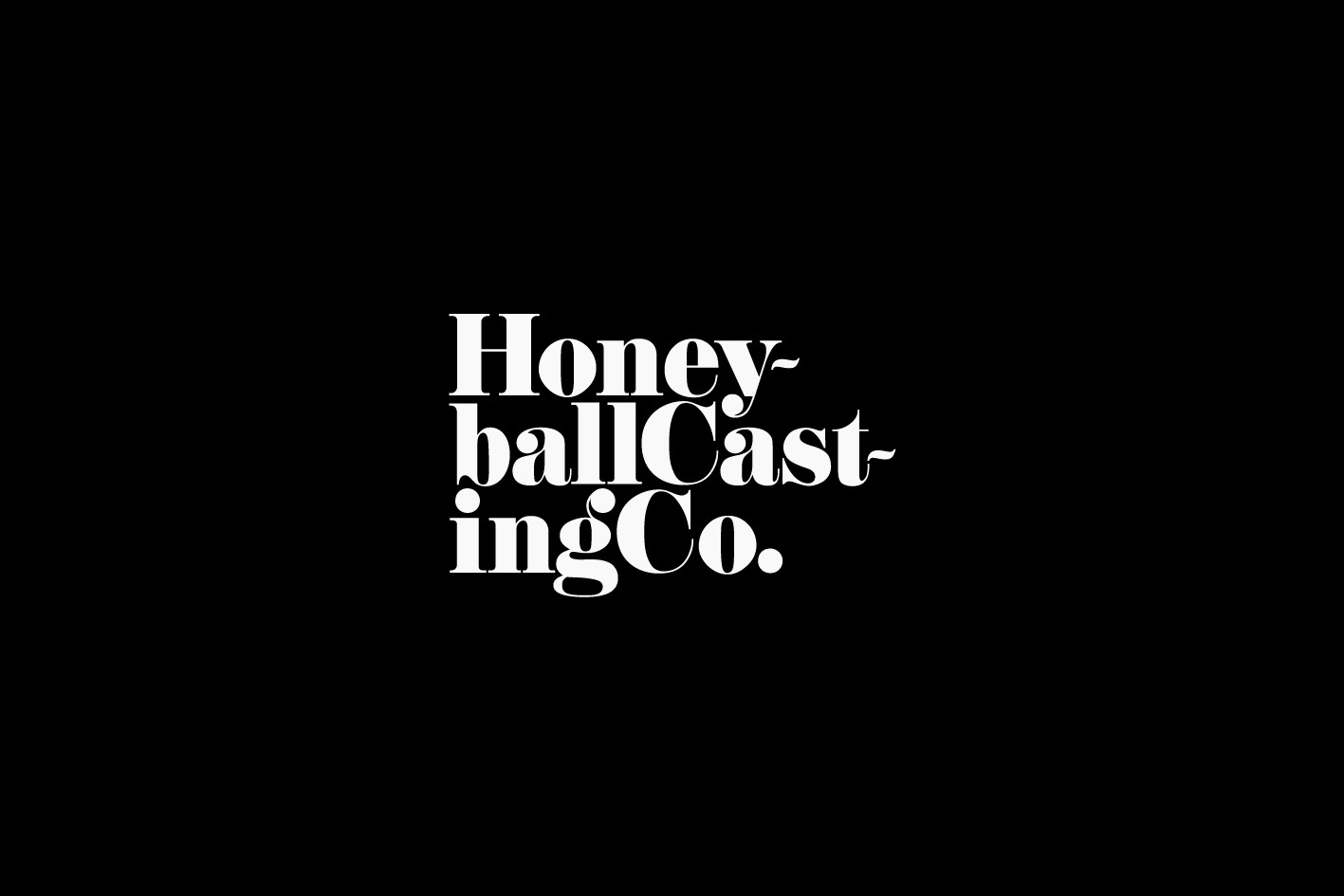Honeyball Casting Co. identity logo