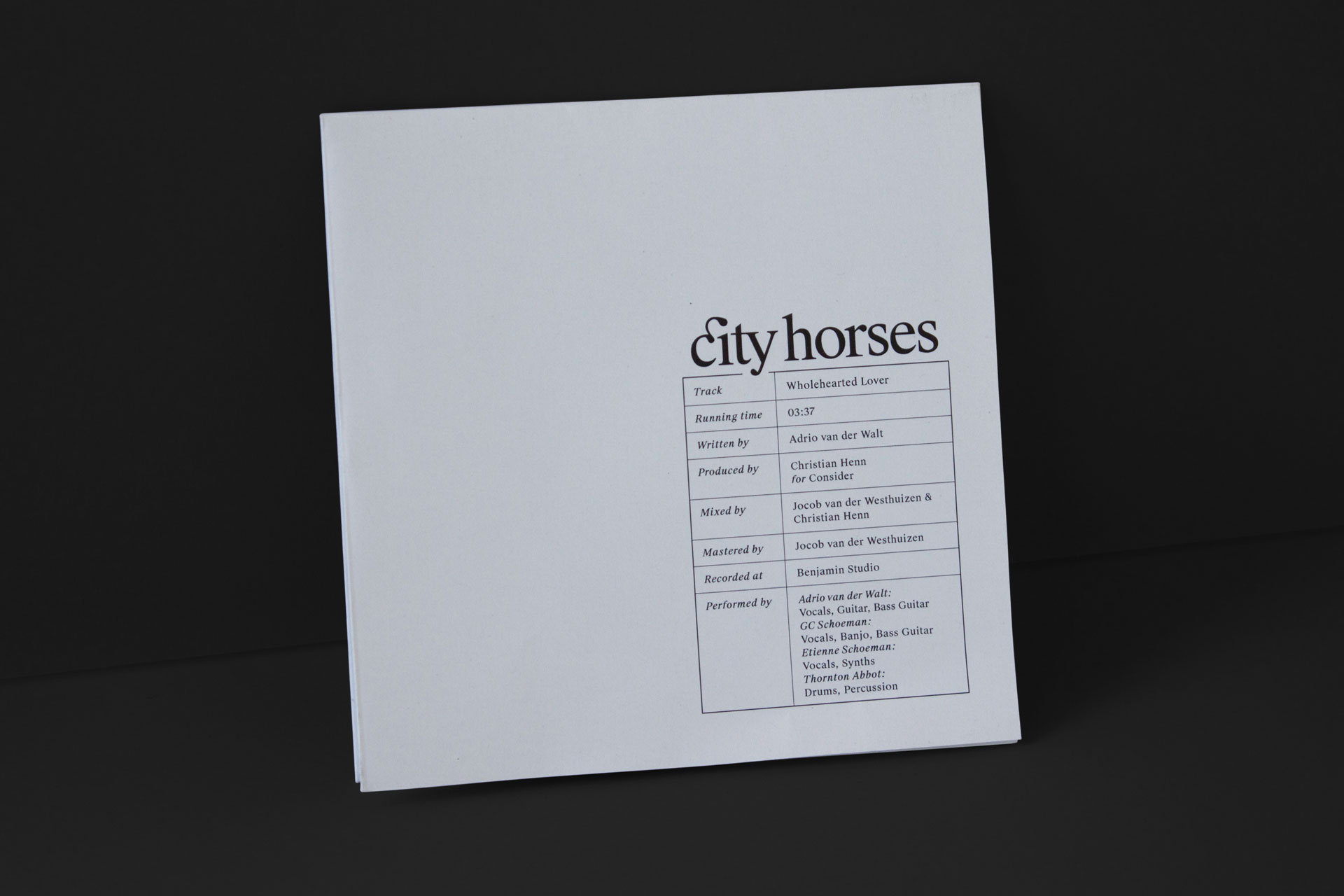 City Horses cover design