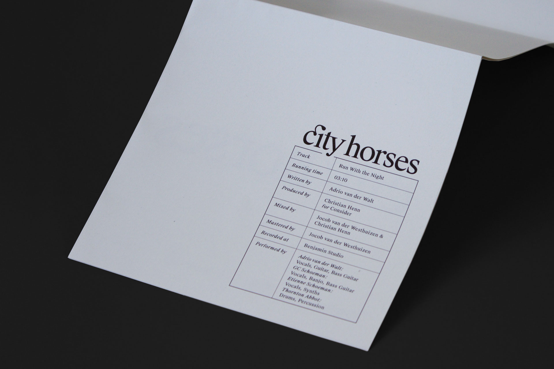 City Horses cover design detail