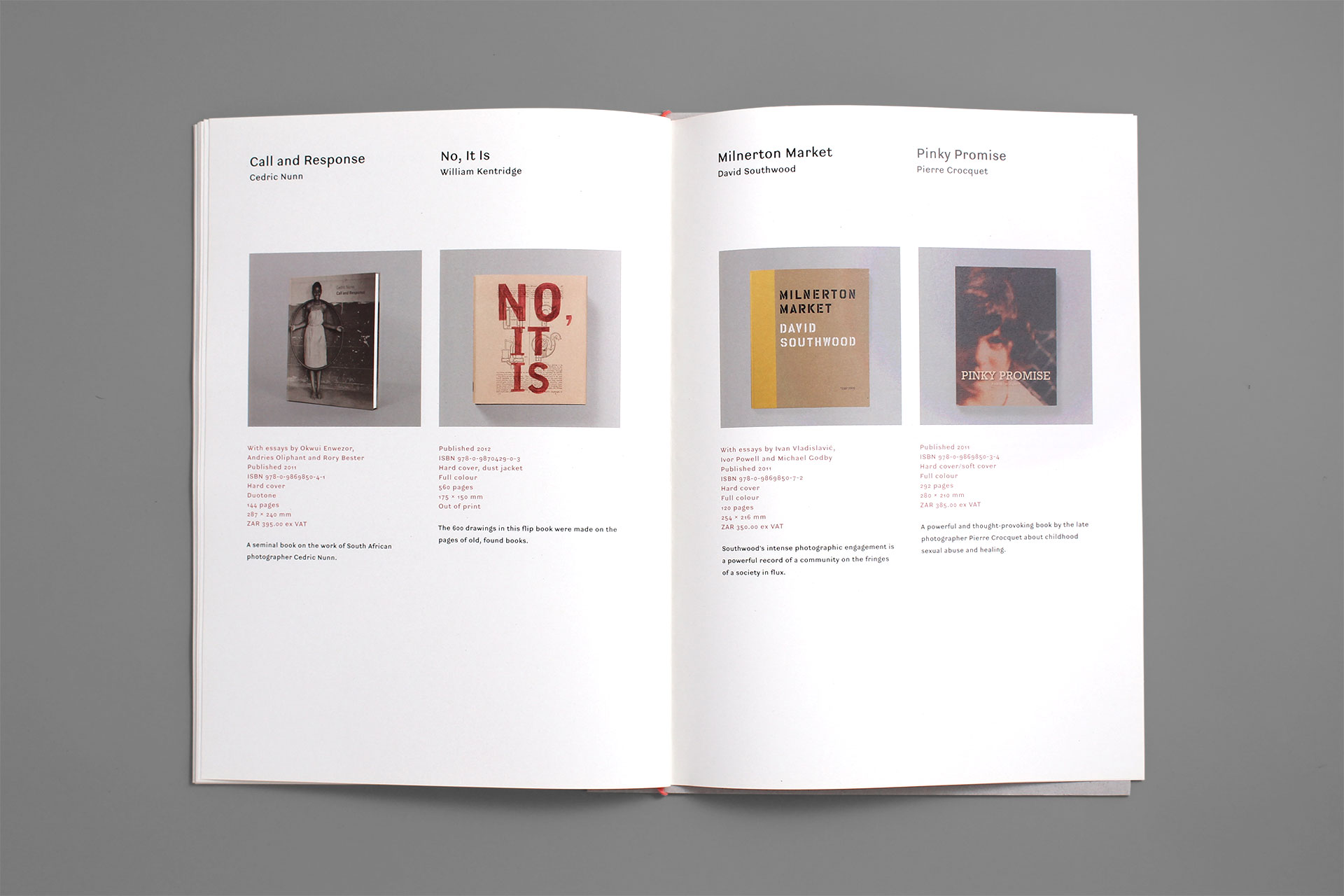 Fourthwall Books catalogue design