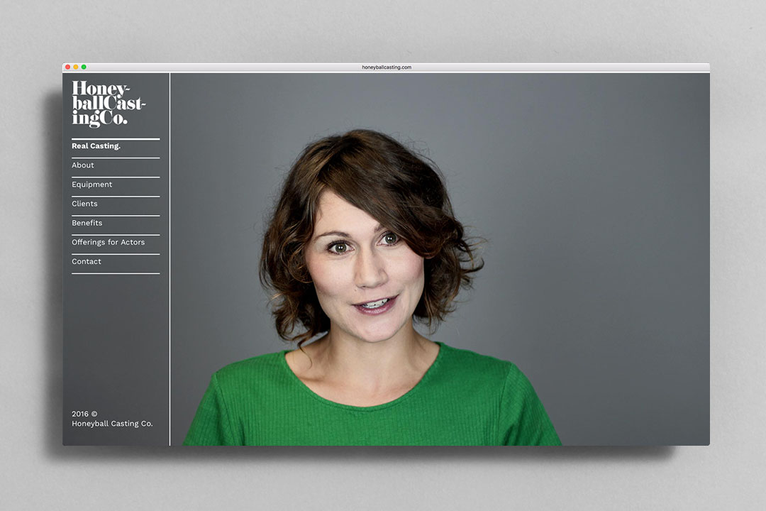 Honeyball Casting Co. identity website