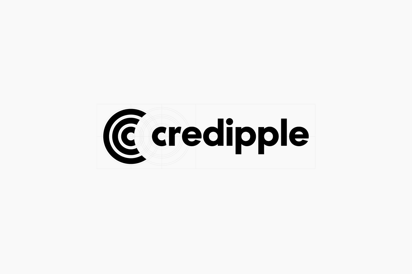Credipple icon and wordmark construction