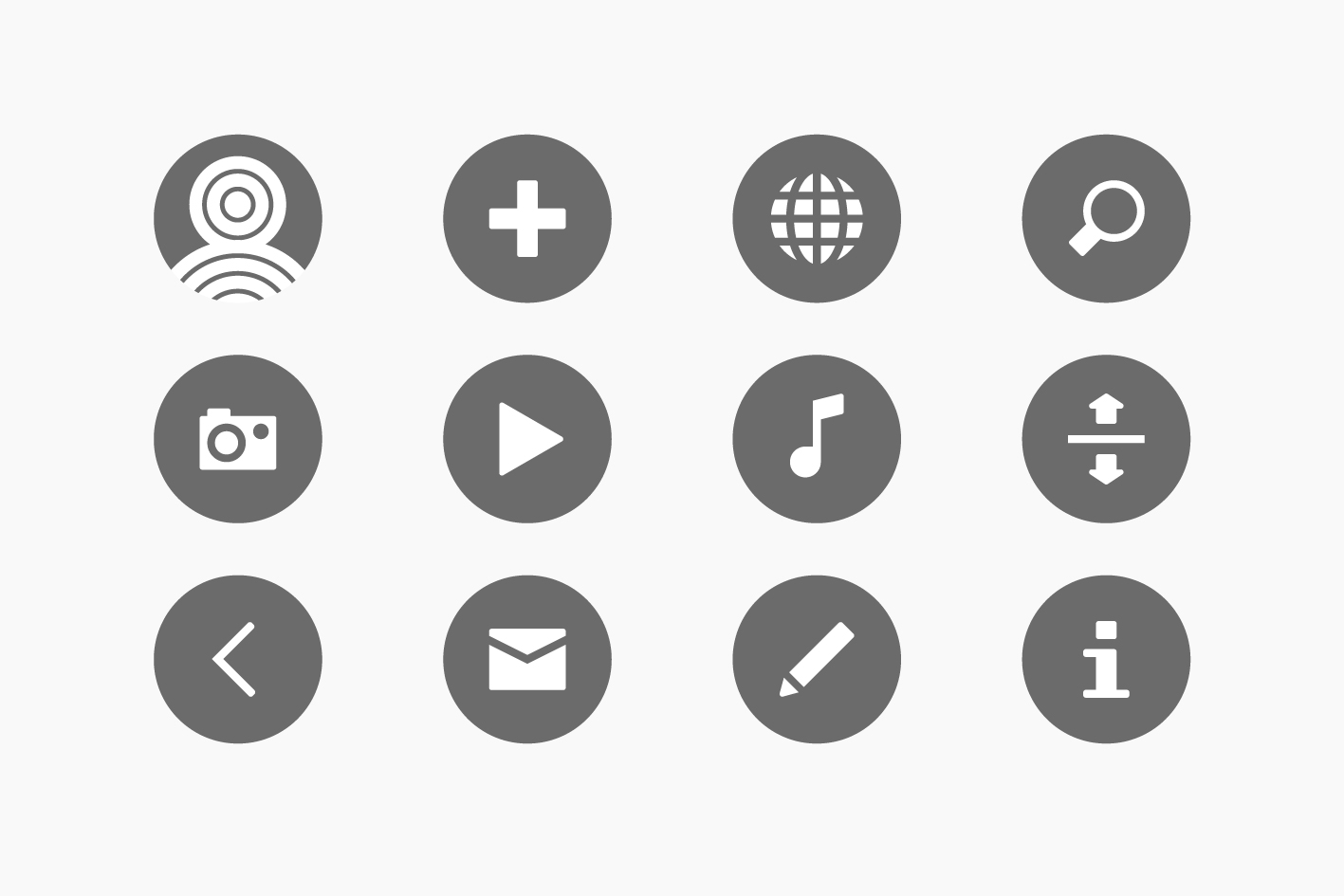 Credipple icon set