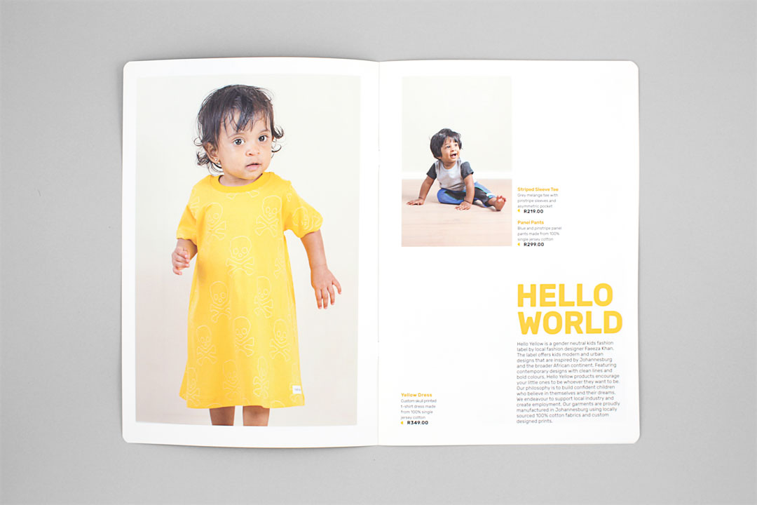 Hello Yellow identity looks book