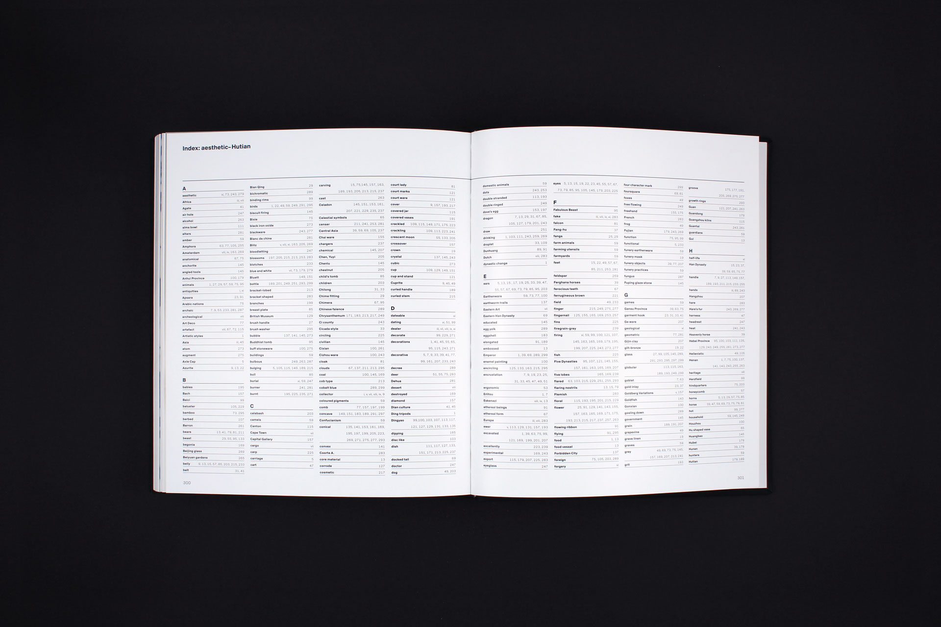 Youxiantang Collection book design index